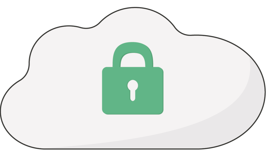 Lock icon to illustrate security