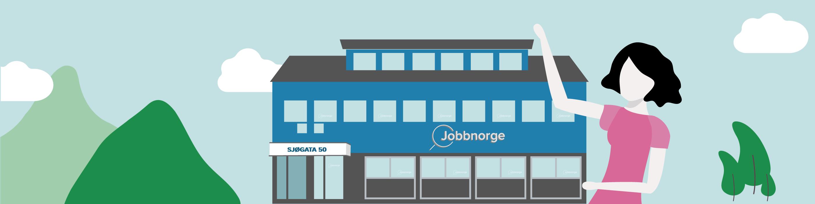 Illustrasjon av Jobbnorge-bygget