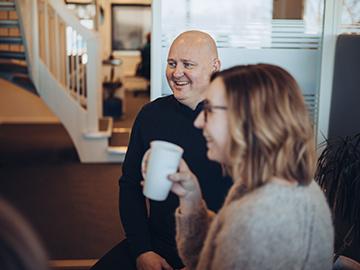 Smilende ansatte i Jobbnorge